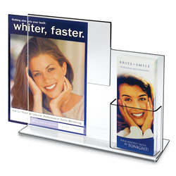 "Deluxe Combo Sign Frame with Tri-fold Pocket, 11"" x 14"""