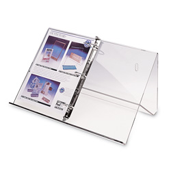 3-Ring Binder Wall Stand, Clear Acrylic