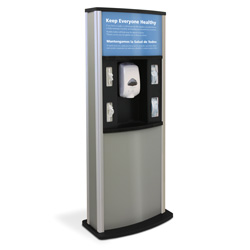 Series 900 Deluxe Infection Control Kiosk, Matte Finish