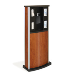 Series 900 Standard Infection Control Kiosk, Wood Grain Finish