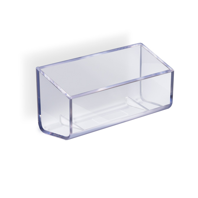 Deluxe clear business card holder braeside displays deluxe clear business card holder colourmoves