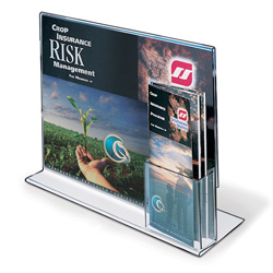 "Upright Sign/Brochure Holder Combo, 13"" x 11"""