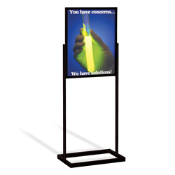 "22"" x 28"" Rectangular Tube Poster Stand, Black"