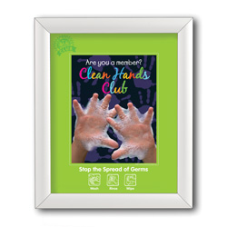 "Front Loading Snap-Tight Poster Frames, 11"" x 14"", White"