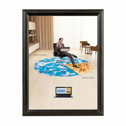 "8.5"" x 11"" Slim Profile Snap Poster Frame, 1"" Profile"