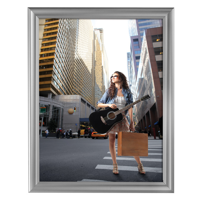 Decorative Snap Poster Frame 22 X 28 Silver Braeside Displays