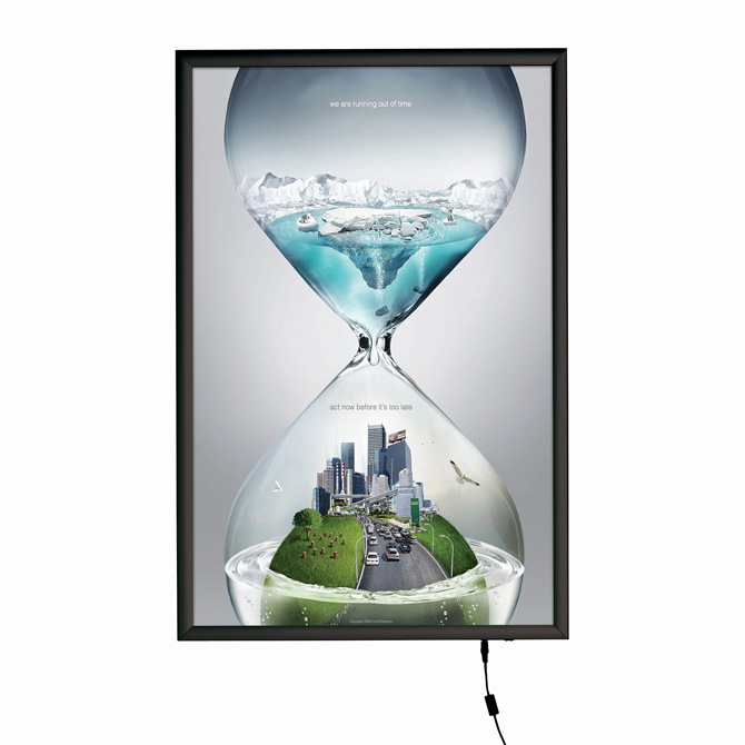 Smart LED Light Box Illuminated Poster Snap Frame, 24 x 36 ...