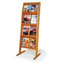 16 Pocket, 4 Shelf Literature Floor Display