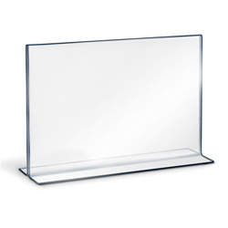"Bottom Loading Double Sided Sign Holder, 7"" x 5-1/2"""