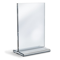 "11"" x 17"" Acrylic Top Loading Double Sided Sign Holder"