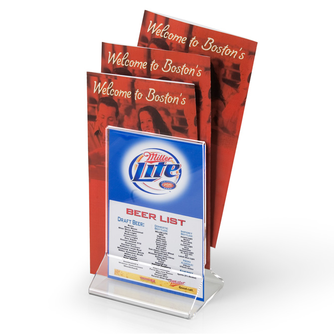 All-In-One Menu Holder Table Tent 5  x 7   sc 1 st  Braeside Displays & All-In-One Menu Holder Table Tent 5 x 7 - Braeside Displays
