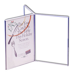 "5"" x 7"" Six Sided Acrylic Sign Holder"