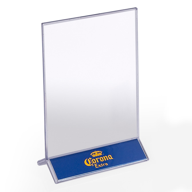Acrylic Double Sided Table Tent X Braeside Displays - 4x6 table tent