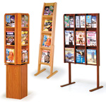 Full-View Floor Literature Racks