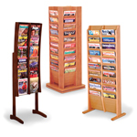 Overlap Floor Literature Racks