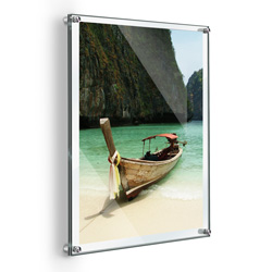 "18"" x 24"" Deluxe Acrylic Standoff Wall Frame, Clear"