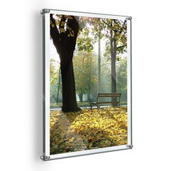 "22"" x 28"" Deluxe Acrylic Standoff Wall Frame, Clear"