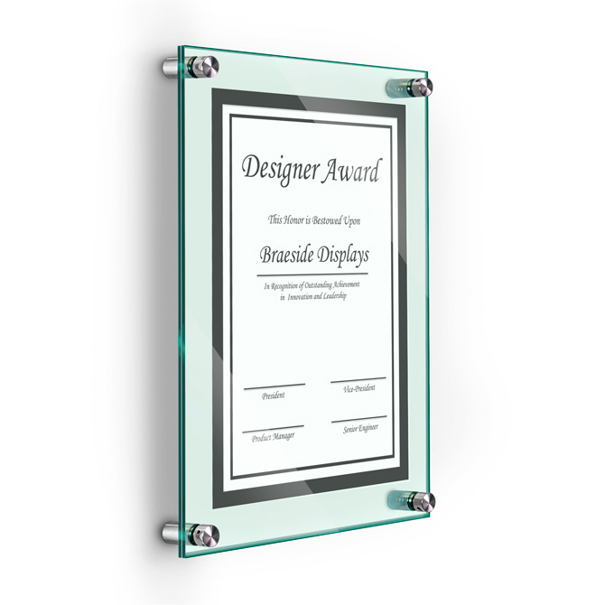 Deluxe Acrylic Standoff Wall Frame 8 12 X 11 Green Braeside