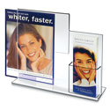 "8-1/2"" x 11"" Deluxe Combo Sign Frame with Tri-fold Pocket"