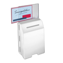 Molded Ballot Box, White with Small Header