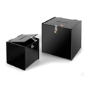 Deluxe Acrylic Ballot Box, Black, Available in 2 Sizes