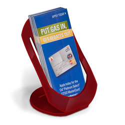 Curviso® Fold & Snap Tri-fold Holder, Red