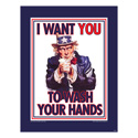 Uncle Sam Hand Hygiene Posters