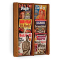 6 Pocket Slanted Magazine Wall Rack