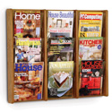 9 Pocket Slanted Magazine Wall Rack