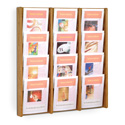 12 Pocket Slanted Magazine Wall Rack