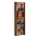 4 Pocket Slanted Vertical Magazine Wall Rack