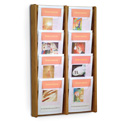8 Pocket Slanted Magazine Wall Rack