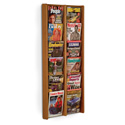 12 Pocket Slanted Vertical Magazine Wall Rack