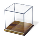 Clear Acrylic Case with Solid Walnut Base