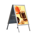 "30"" x 40"" Aluminum A-Frame Sidewalk Sign, Silver with Snap Frame"