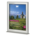 "11"" x 17"" Countertop Slide-In Aluminum Sign Frame, Silver"