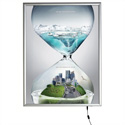 "30"" x 40"" Smart LED Light Box Illuminated Poster Snap Frame, Silver"