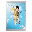 "24"" x 36"" Swing Open Poster Frame, Silver, Locking, Indoor-Outdoor"