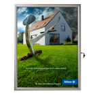 "24"" x 36"" Slim Profile, Swing Open Poster Frame, Silver, Locking, Indoor-Outdoor"