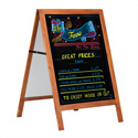 "28"" x 41"" Wooden A-Frame Sidewalk Sign with Chalkboard"