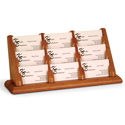 9 Pocket Oak Business Card Holder