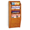 4 Pocket Vertical Magazine Wall Rack