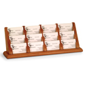 12 Pocket Oak Business Card Holder