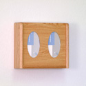 Two-Compartment Oak Exam Glove Dispensers