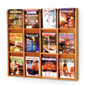 12 Pocket Magazine Wall Display