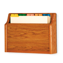Single Pocket Wall Mount File and Chart Holder, Flat Base