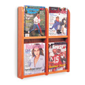 4 Pocket Magazine Wall Display