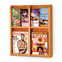 4 Pocket Magazine / 8 Pocket Brochure Wall Display with Dividers