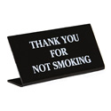 "Acrylic ""No Smoking"" Sign, 6"" x 3"""