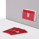 "3-1/2"" x 1-1/2"" Peel & Stick Business Card Pocket, Prefolded"